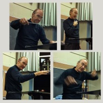 Bob Halseth, rehearsing the group for the Annual Fall Concert in Yuba CIty