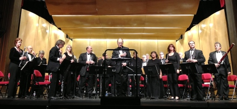 Sandy Hook Benefit Concert January 2013, Dr. Halseth conducting the Sierra Nevada Winds