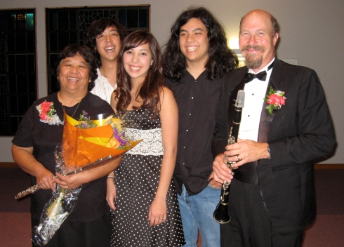 Soloists Judy and David Coe with Family