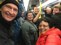 Part of the group, including our conductor Robert Halseth, in the London underground